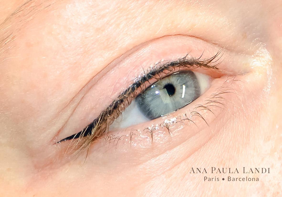 micropigmentación ojos por Ana Paula Landi en Barcelona