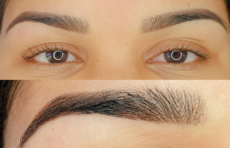 fotos de micropigmentación de cejas - Ana Paula Landi Barcelona