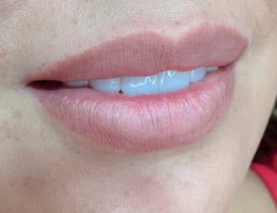 micropigmentacion de labios antes y despues por Ana Paula Landi