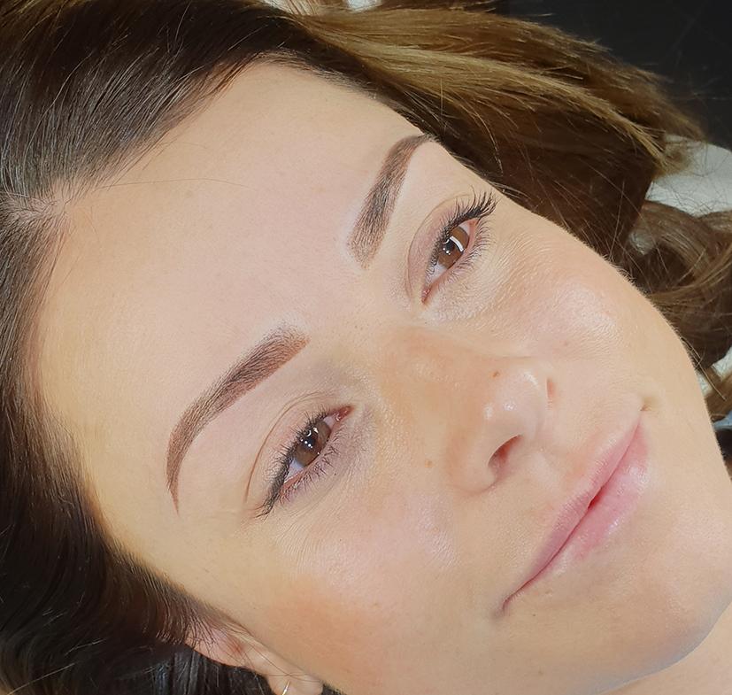 Micropigmentacion de cejas, tecnica ombre effect 4
